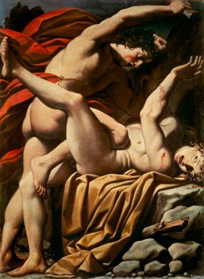'The death of Abel' - Lionello Spada late 16th century