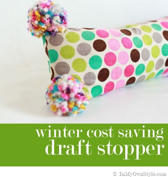 Cute DIY Draft Stopper To Stop A Winter Draft.for Mamamor?