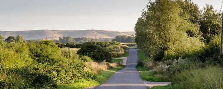 Joe Dunckley posted a photo:  A country lane runs between lush summer hedgerows and farmland towards Bedingham Hill in the rolling landscape of the South Downs near Ringmer in East Sussex.