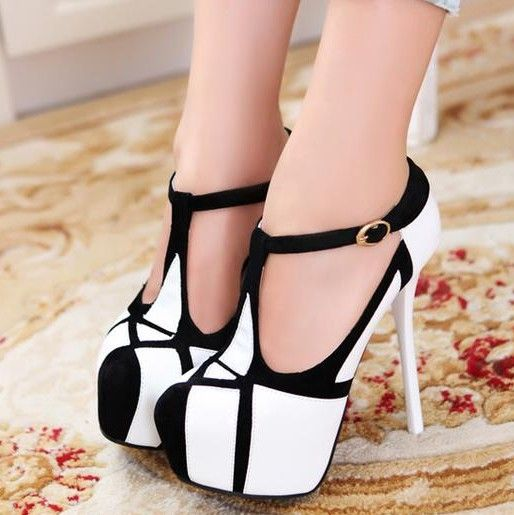 shoes woman 2013 platform pump wedgesFashion sexy high-heeled shoes thin heels round toe platform shoes colorant match women's $39.00