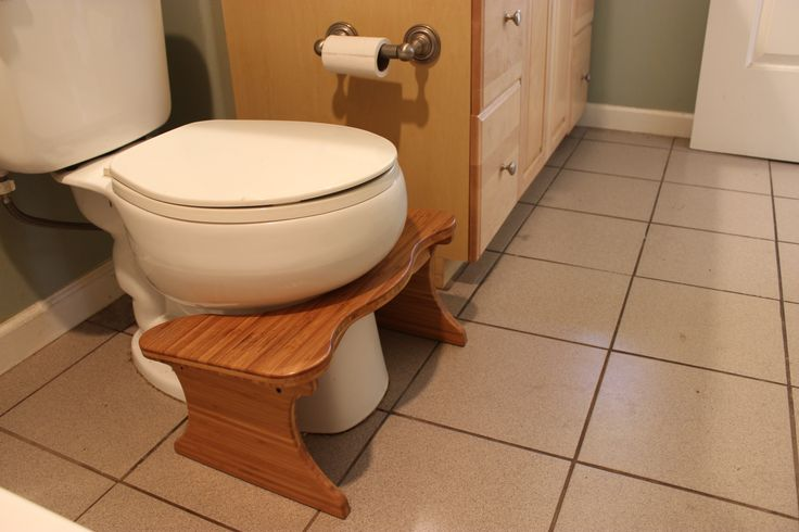 Notice how the Squatty Potty conveniently fits the contours of your toilet?