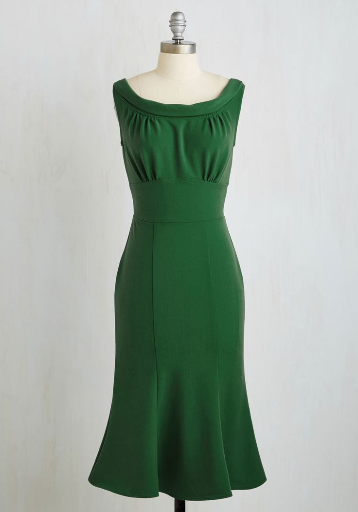 Jazz Band Jive Dress. Though at a glance your fern green sheath by Stop Staring! #green #modcloth $180