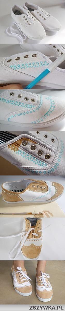 Super zapatillas vintage pintadas con Rotulador !!