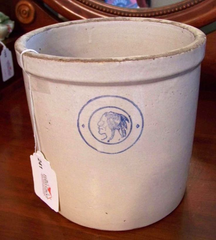 Past auction. Rudd Alfred Timed Online Estate Auction. Antique Louisville Pottery Co. Indian Head Crock #auction #antiques #louisvilleky #kentuckyhistory