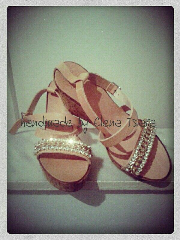 Platform sandals handmade @Tsiara Elena.blogspot.com /shipping everywhere!!!