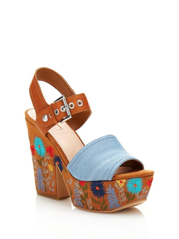 EUR145.00$  Watch here - http://viati.justgood.pw/vig/item.php?t=9qrovk4320 - CARALIN FLORAL WEDGE SANDAL