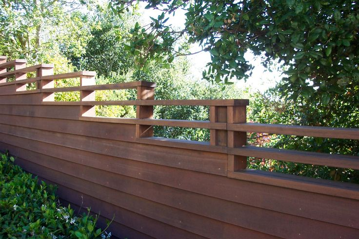 Horizontal Fence w/ Solid Bottom, Open Top