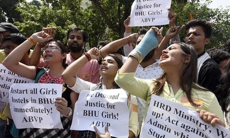 India's female students say 'to hell with it, we won't stand for molesting and Eve-teasing'    Banaras Hindu University in Varanasi is struggling to recover after women there broke with tradition to call time on sexual discrimination
