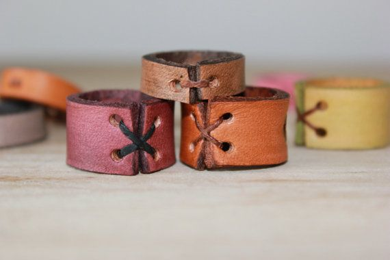 Leather Ring Infinity Symbol Anchor Choose your by PurelyPoiema, $18.00