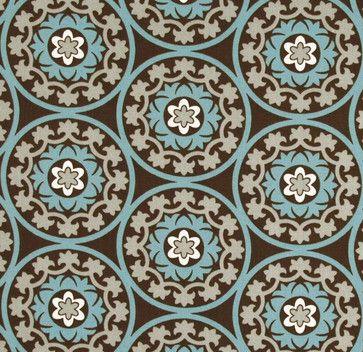 Robert Allen Suzani Azure Fabric - eclectic - upholstery fabric - Stephanie Sabbe
