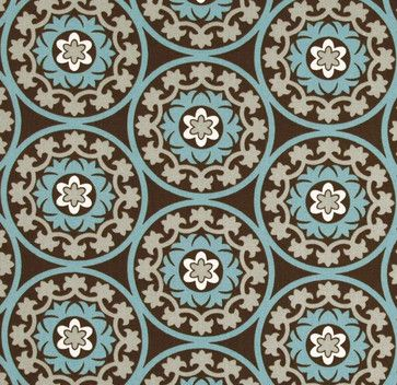 Robert Allen Suzani Azure Fabric - eclectic - upholstery fabric - Stephanie Sabbe