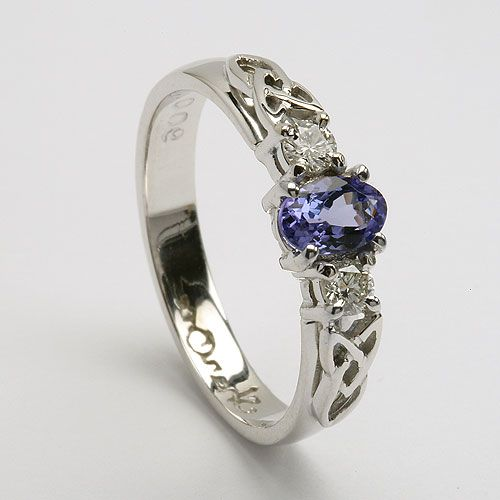 A beautiful tanzanite ring, the delicate blend of blues and purples which I've been told match my eyes...