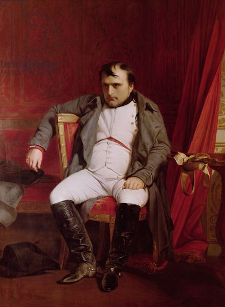 Napoleon (1769-1821) after his Abdication (oil on canvas) --- by Paul Delaroche 1845.