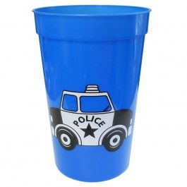 Police Party Supplies, Police 16oz Cups, Tableware