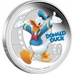 Donald Duck 2014 1oz Silver CoinDisney Mickey & Friends Proof Coin Series