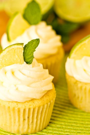 "Mojito Cupcakes - I made this cupcake recipe  and mixed it with a different recipe's cream cheese frosting.  Upon trying it for the first time, Rob's reaction was, ""Whoa. This is definitely my new favorite cupcake!"""
