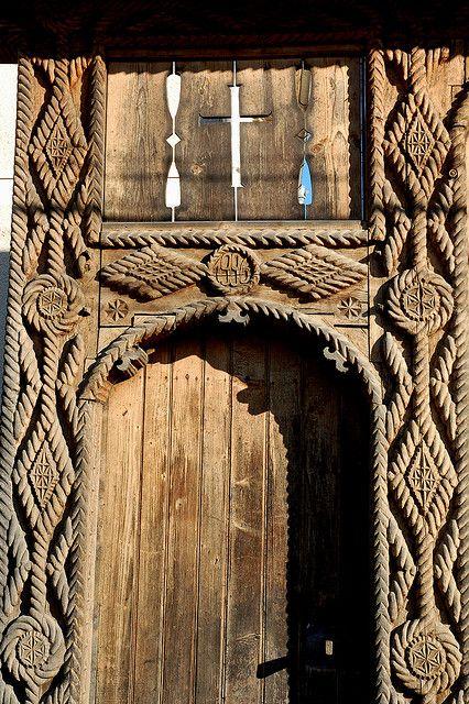 Carved gate, Maramures.Romania