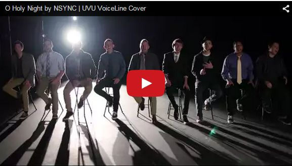 'O Holy Night' Nsync Cover by UVU VoiceLine (Mormon Report on LDSLiving.com)