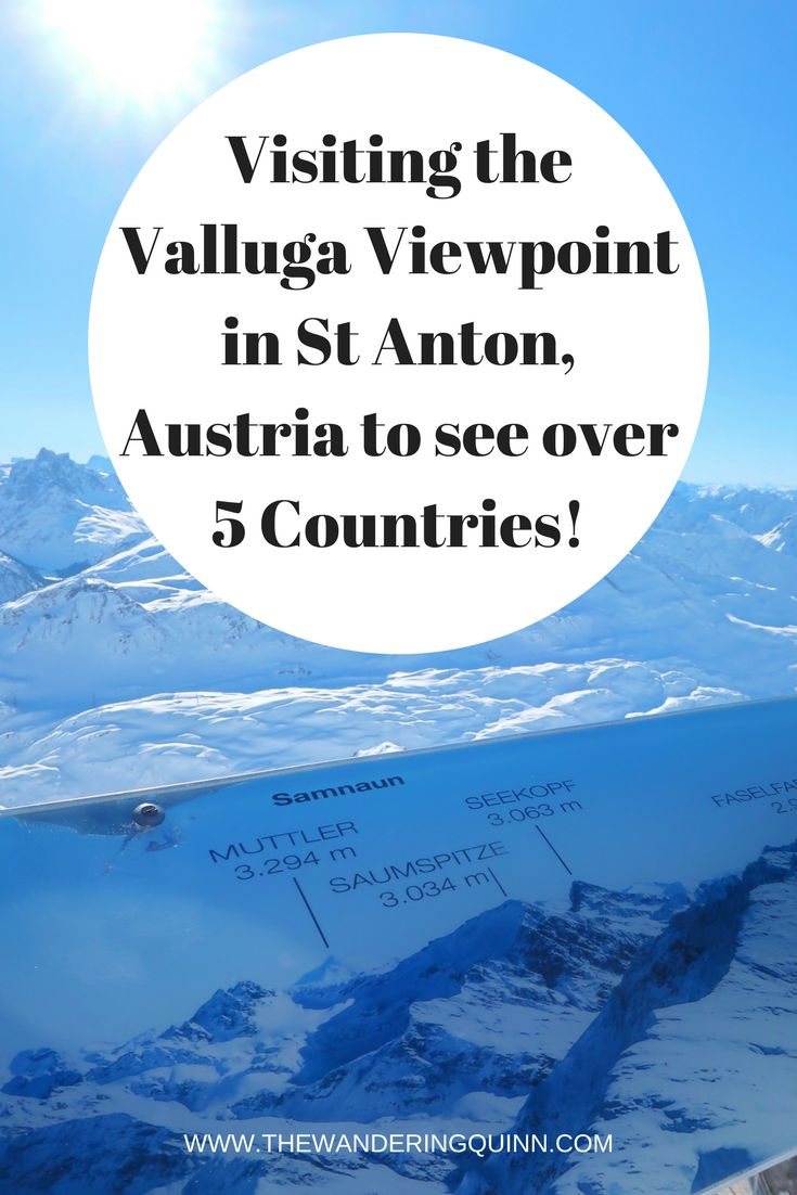 Visiting the Valluga Viewpoint in St Anton, Austria to see over 5 Countries!  Whether you're a skier or non-skier, when you are in St Anton, Austria you have to visit the Valluga viewpoint 2811 meters high and look over 5 Countries, I took the gondola's up and this is how I did it. #austria #stanton #valluga #discoveraustria #visitaustria #skitrip