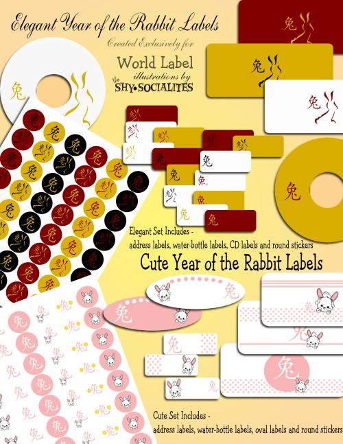 Labels, Printables, Open Source & more!         Chinese New Year Labels – the Year of the Rabbit