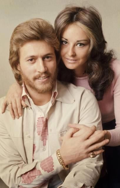 barry gibb children - NO!! Barry and Linda Gibb (before she dyed her hair)