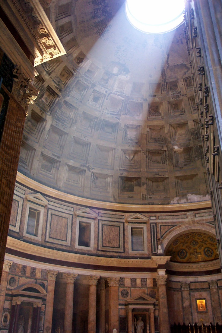 Inside the Pantheon, Rome.  Nothing prepares you for how amazing it is inside.