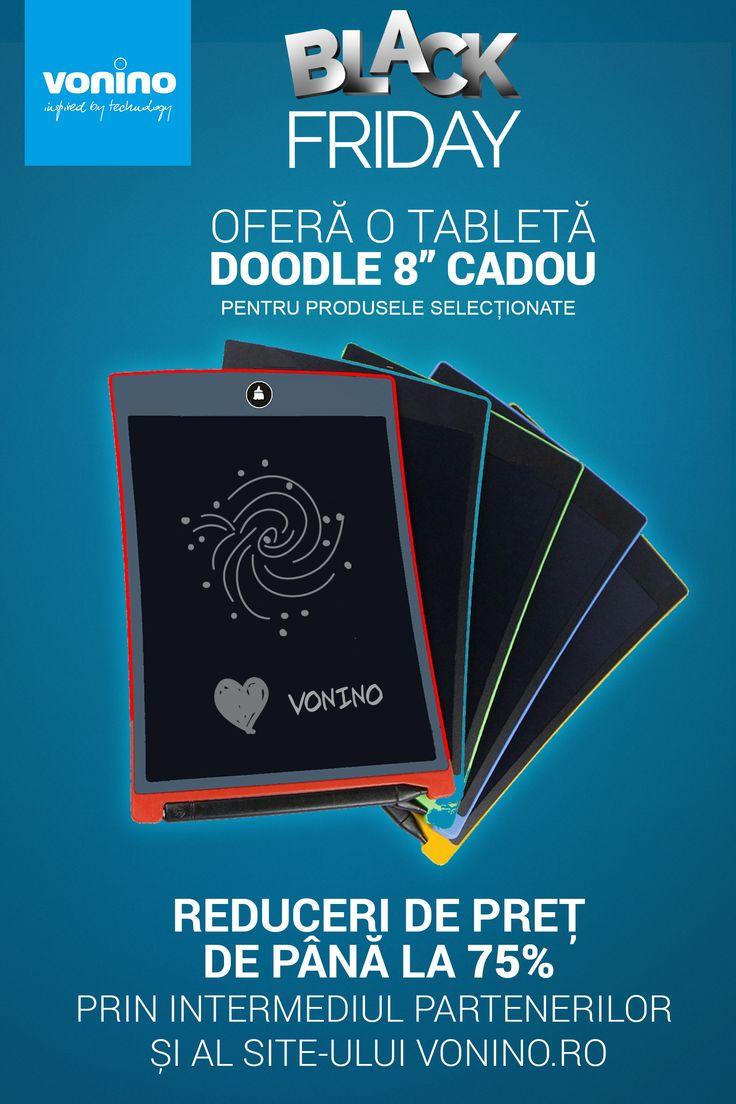 """Black Friday 2017 la Vonino: o tabletă Doodle 8"""" CADOU și reduceri de preț de până la 75% - https://www.electrocity.ro/black-friday-2017-la-vonino-o-tableta-doodle-8-cadou-si-reduceri-de-pret-de-pana-la-75/"""