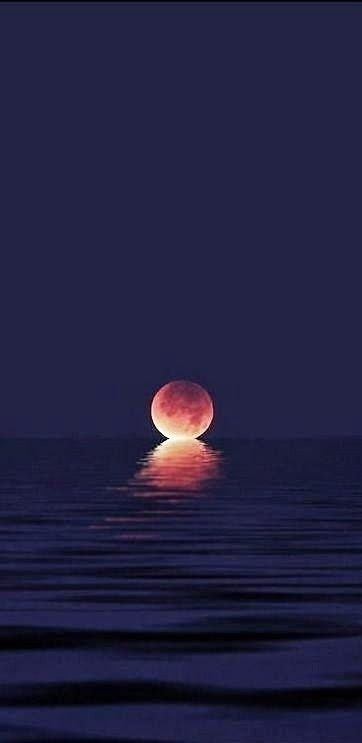 When the moon kisses the ocean!