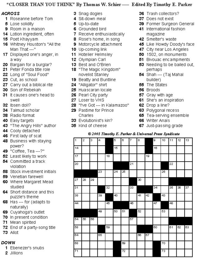 Crossword Puzzles to Print and Solve - Volume 25: Print-friendly Crossword Puzzles - Volume 25 - Page 7
