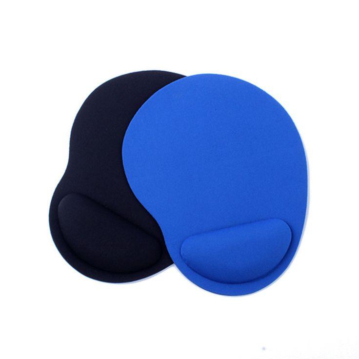 Linda Forma de Soporte Para las Muñecas de Tela + Mouse Pad Ratones de la Estera Tamaño Mini de Color Negro Azul