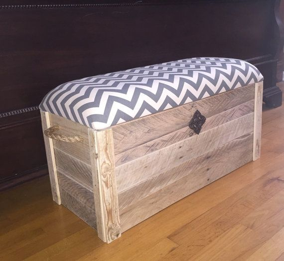 Rustic Chic Storage Chest - Hope Chest. Can be used for an accent bench, entryway bench, toy storage, etc. Made from reclaimed wood. Very
