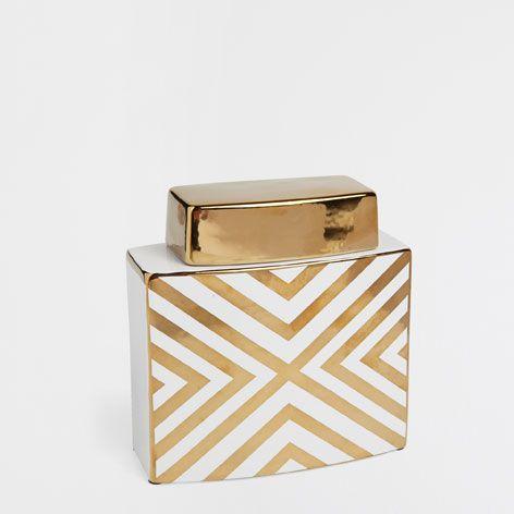 ZIGZAG DECORATIVE JAR - Accessories - Decor and pillows | Zara Home United States