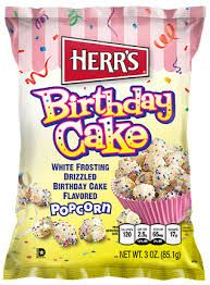 Herrs Birthday Cake Popcorn American Food Shelves Birthdays