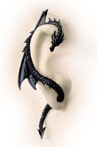 "The Dragon Lure ""Black"" Earring by Alchemy Gothic, England"
