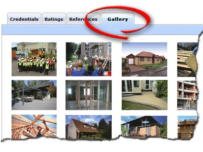 Get a gallery section to upload photos of your work and showcase your skills