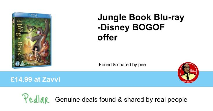 Jungle Book Blu-ray -Disney BOGOF offer, £14.99 at Zavvi