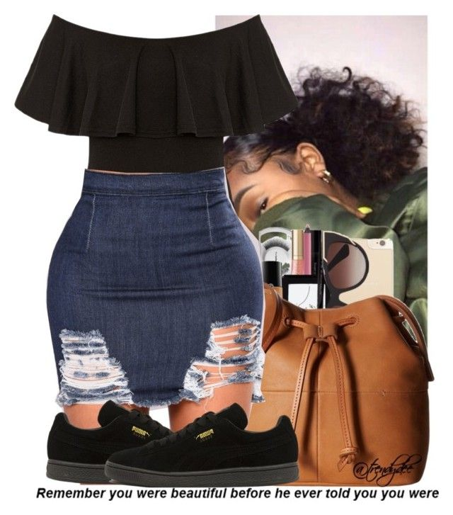 """Untitled #195"" by issaxmonea ❤ liked on Polyvore featuring Puma"