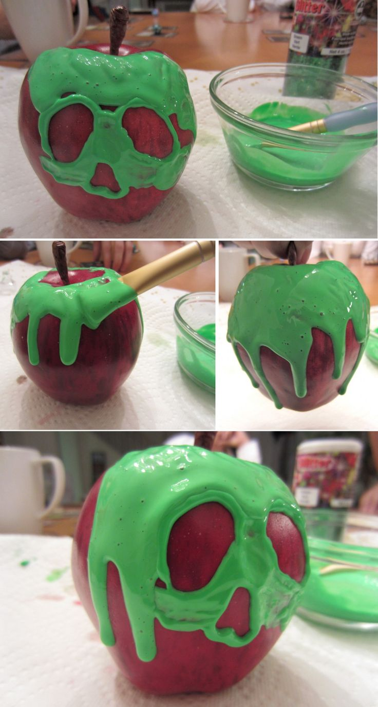 Snow White Poison Apple DIY