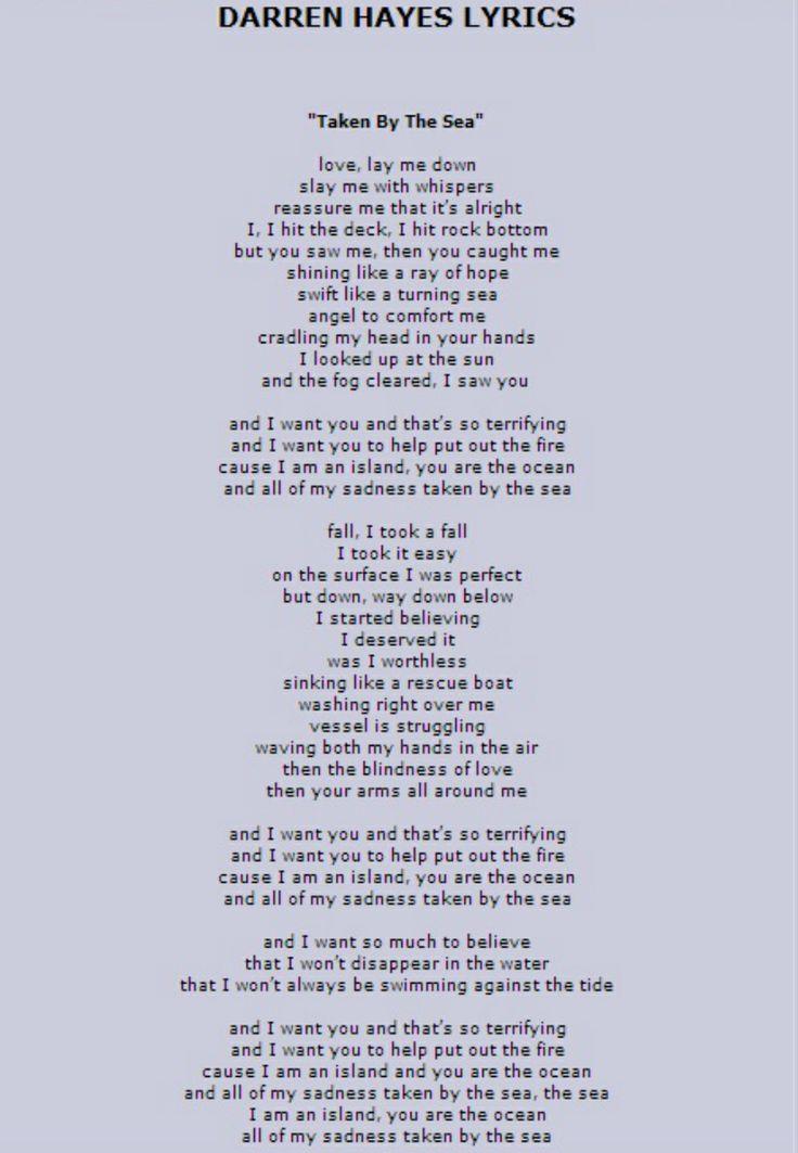 Lyric i believe in you lyrics : 52 best Lyrics by Darren Hayes images on Pinterest | Lyrics, Music ...