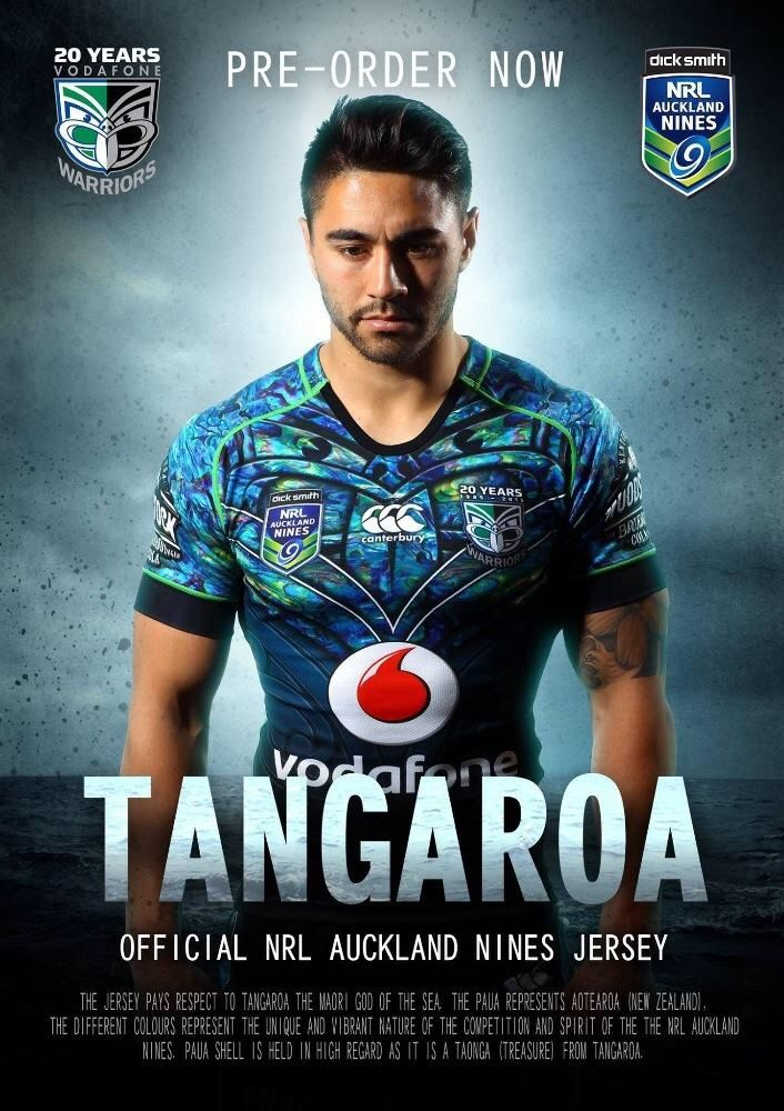 NZ Warriors NRL have outdone themselves with this Nines jersey.