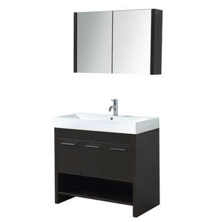@Overstock.com   Trimon 35 Inch Single Sink Bathroom Vanity Set   The  Trimon Bathroom Vanity Set Features Maximum Storage With Three Soft Closing  Doors.