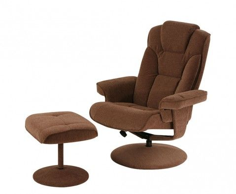Grayson Swivel Recliner Chair and Footstool - UK delivery