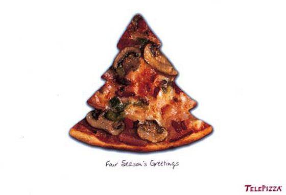 Otra de pizzería: Telepizza también con un árbol de Navidad
