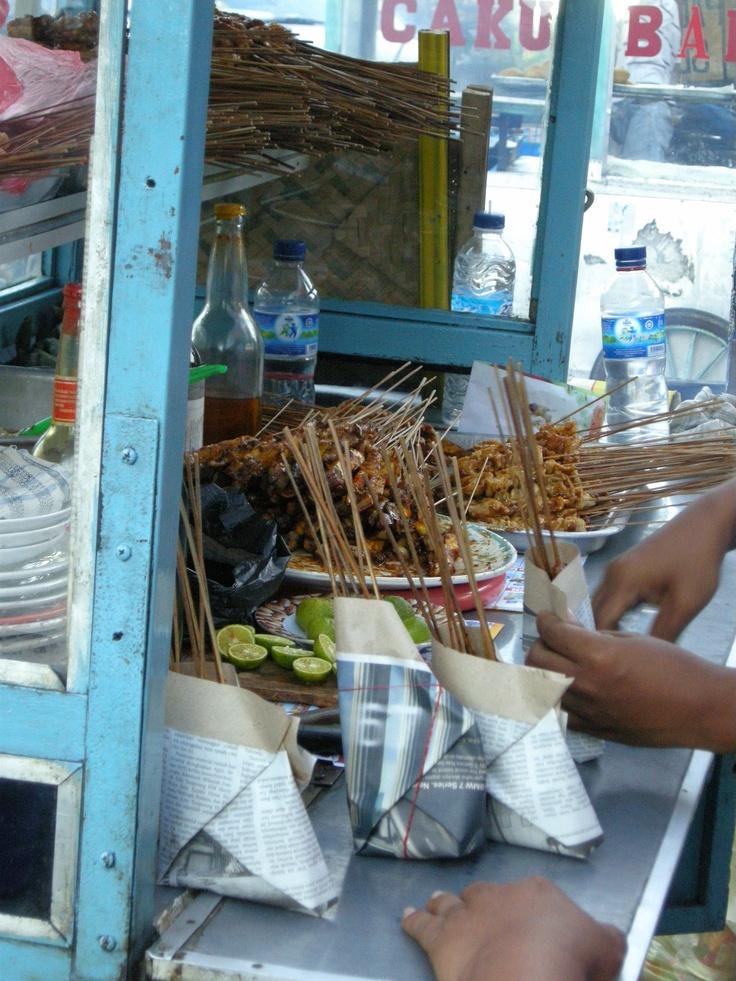 sate - satay, Indonesian food - by selmadisini 2009
