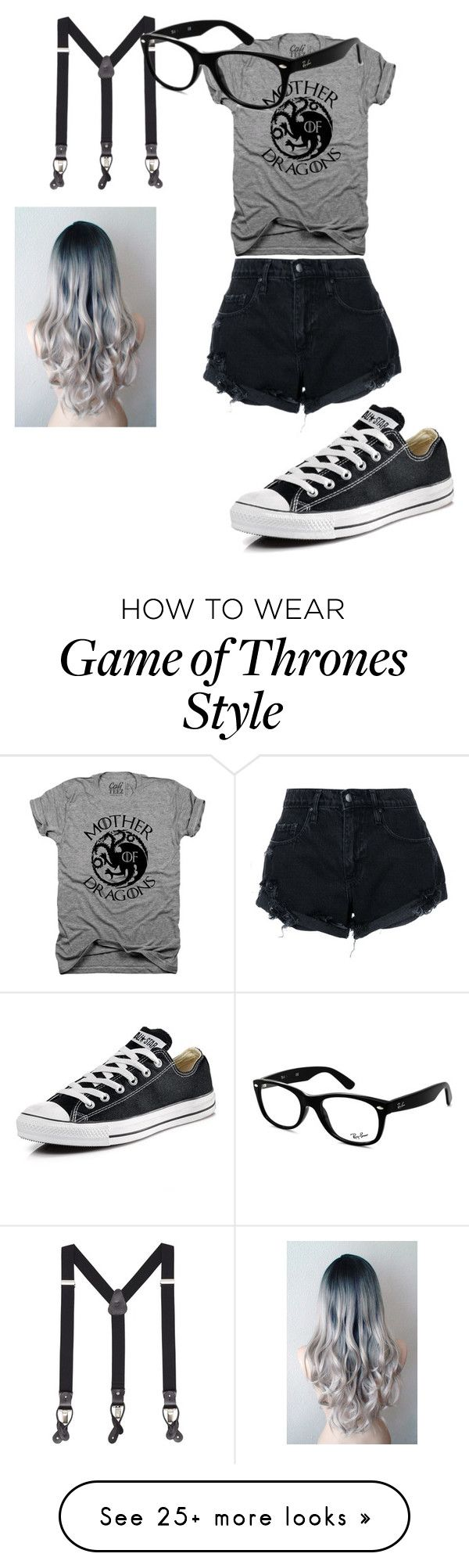 """""""Hipster Danny"""" by teresa-valentine on Polyvore featuring MANGO MAN, Nobody Denim, Ray-Ban and Converse"""