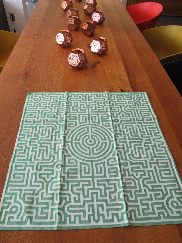 'Labyrinth' tea towel