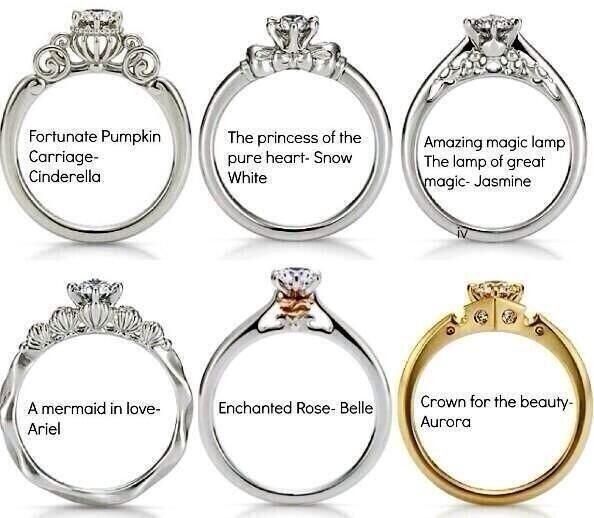disney wedding rings super cute - Cute Wedding Rings