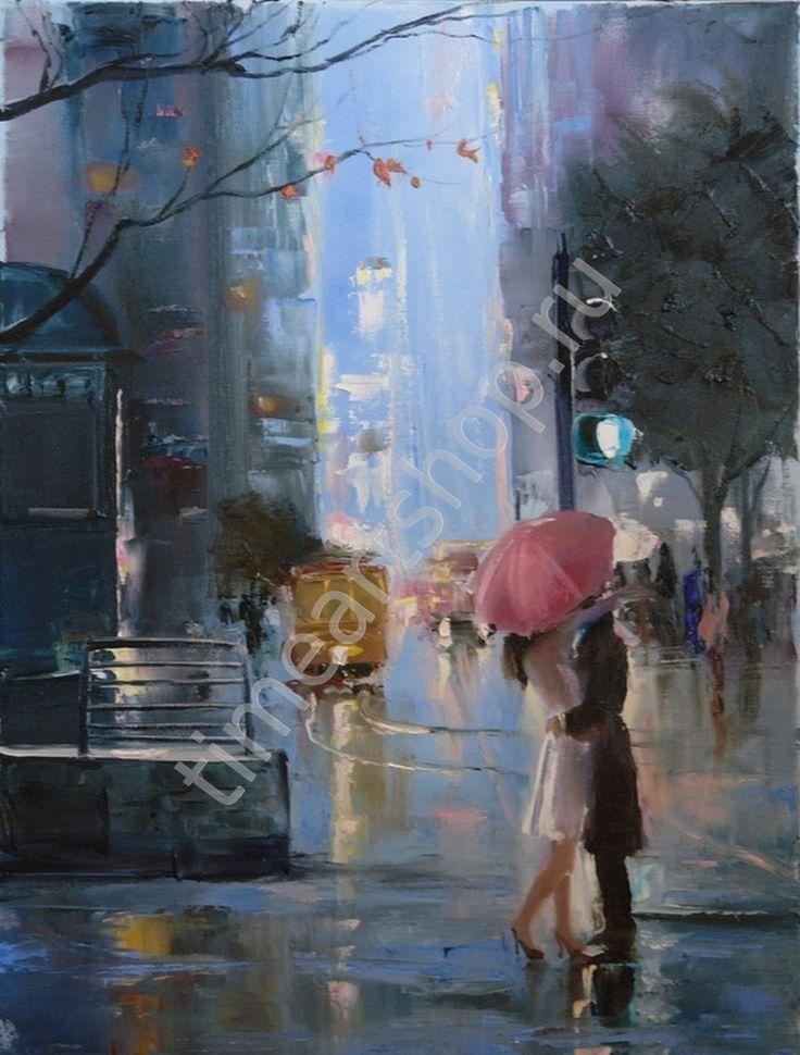 """Christina Nguyen """"Синие сумерки"""", картина раскраска по номерам, размер 40*50см, цена 750 руб."""