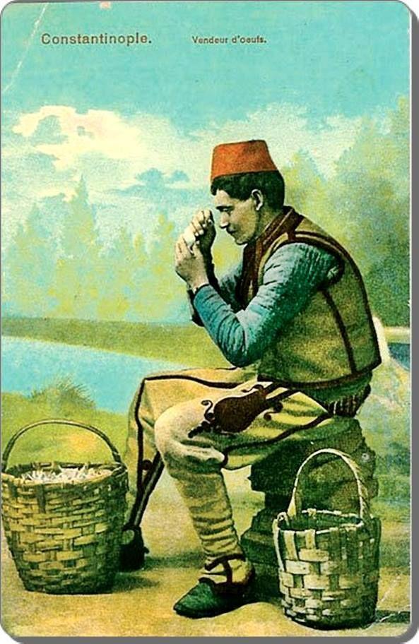 Ottoman Egg seler / Yumurtacı - 1900 ler