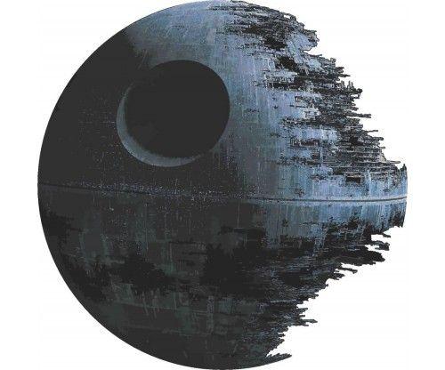 Öntapadós halálcsillag falmatrica - a Star Wars-ból. Faltetoválás gyerekszobába, előszobába, szekrényre, üvegre